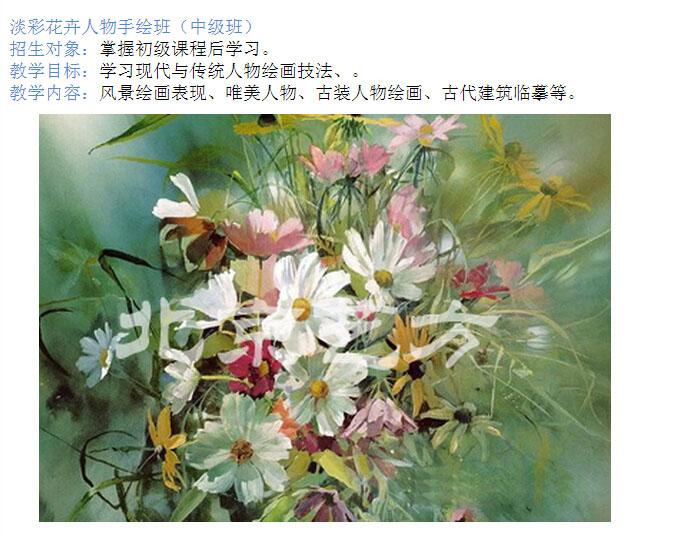 淡彩花卉人物手绘班
