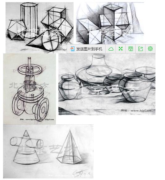 单体透视图结构素描